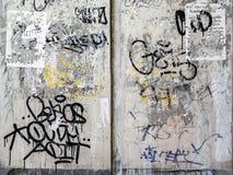 难看的东西墙壁纹理背景在曼谷 免版税库存照片