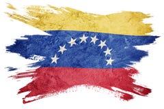 难看的东西委内瑞拉旗子 与难看的东西纹理的委内瑞拉旗子 brusher 库存例证