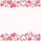 难看的东西心脏爱题材框架  库存照片
