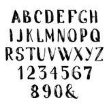 难看的东西手拉的字母表 库存照片