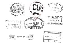 难看的东西护照邮票 免版税库存照片