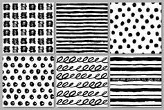 难看的东西无缝的样式纹理集合 也corel凹道例证向量 免版税图库摄影
