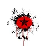 难看的东西星红色黑色 库存图片