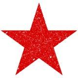 难看的东西是一个红色大星 破旧的传染媒介,被抓的星 难看的东西星标志 库存例证