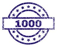 难看的东西构造了1000张邮票封印 免版税库存图片