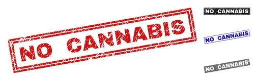 难看的东西没有大麻被抓的长方形邮票封印 皇族释放例证