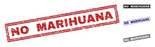 难看的东西没有大麻被抓的长方形邮票封印 库存例证