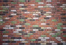 难看的东西红砖墙壁背景 免版税库存图片