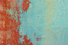 难看的东西红色和蓝色金属片 库存图片