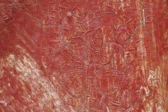 难看的东西纹理,红色,油漆,墙壁,崩裂了 库存图片