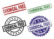 难看的东西织地不很细化学制品自由邮票封印 向量例证