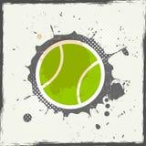 难看的东西网球 免版税库存图片