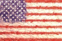 难看的东西美国旗子背景 免版税图库摄影