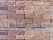 难看的东西老红砖墙壁纹理背景,纹理背景 免版税图库摄影