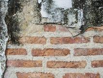 难看的东西背景红砖墙壁纹理和块路边路 免版税库存照片