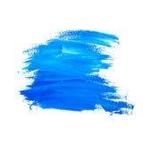 难看的东西蓝色油漆刷子冲程  免版税图库摄影