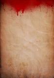 难看的东西血液喷溅了纸背景 免版税库存图片