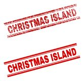 难看的东西被构造的圣诞岛邮票封印 皇族释放例证