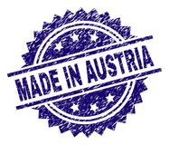 难看的东西被构造的奥地利制造邮票封印 库存例证