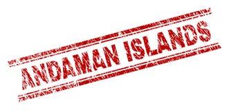 难看的东西被构造的安达曼群岛邮票封印 向量例证