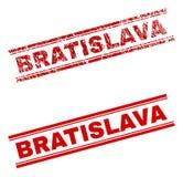 难看的东西被构造的布拉索夫邮票封印 库存例证