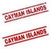 难看的东西被构造的开曼群岛邮票封印 库存例证