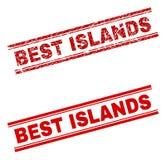 难看的东西被构造的最佳的海岛邮票封印 库存例证