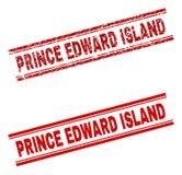 难看的东西被构造的爱德华王子岛邮票封印 向量例证