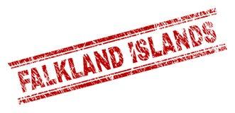 难看的东西被构造的福克兰群岛邮票封印 库存例证