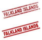 难看的东西被构造的福克兰群岛邮票封印 向量例证