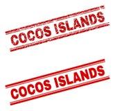 难看的东西被构造的科科岛邮票封印 向量例证