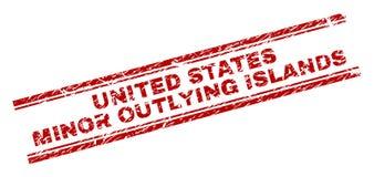 难看的东西被构造的美国本土外小岛屿邮票封印 向量例证