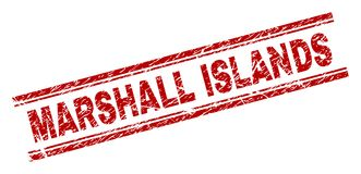难看的东西被构造的马绍尔群岛邮票封印 向量例证