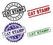 难看的东西被构造的CAT邮票封印 皇族释放例证
