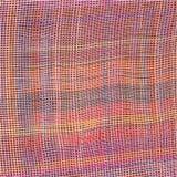 难看的东西镶边的和方格的织法布料背景 免版税库存照片
