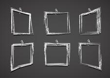 难看的东西长方形集合 设置难看的东西白色框架 向量例证