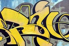 难看的东西颜色纹理,街道在墙壁上的艺术街道画 免版税库存照片