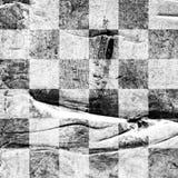 难看的东西?hess构造了抽象方格的无缝的样式 免版税库存图片