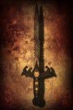 难看的东西幻想剑背景 免版税库存照片