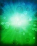 难看的东西绿色,蓝色bokeh摘要背景艺术 免版税库存照片