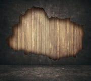 黑难看的东西破裂的具体和木板条 皇族释放例证