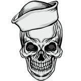 难看的东西头骨徽章 图库摄影