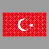 难题土耳其旗子在灰色背景的 皇族释放例证