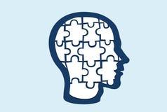 难题形状的头的传染媒介 库存例证