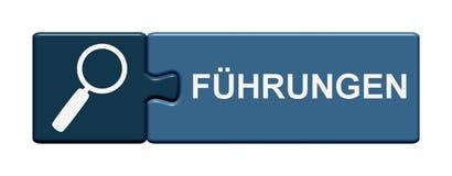 难题按钮被引导的游览德语 免版税库存图片