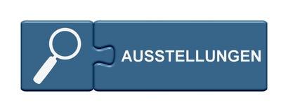 难题按钮陈列德语 免版税库存照片