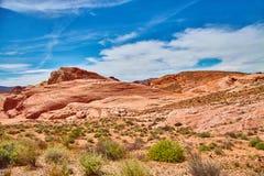 难以置信地美好的风景在南内华达,火国家公园,美国谷  免版税库存图片