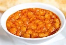 雀儿山bhatura - chole bhature -印地安食物 库存图片