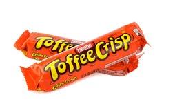 雀巢奶糖酥脆巧克力块 库存图片