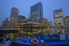 黄雀色码头,伦敦 免版税图库摄影